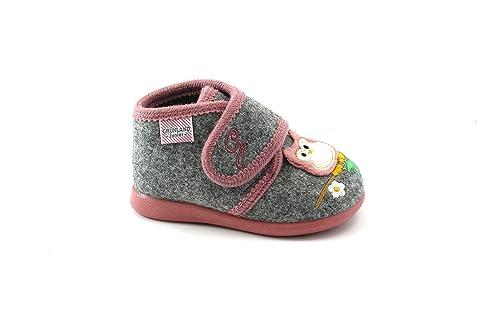 GRUNLAND DALY PA1064 Zapatillas Grises niña sintió búho lágrima 25: Amazon.es: Zapatos y complementos