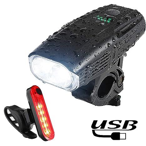 Yosky - Juego de Luces LED para Bicicleta (1000 LM, luz Delantera ...