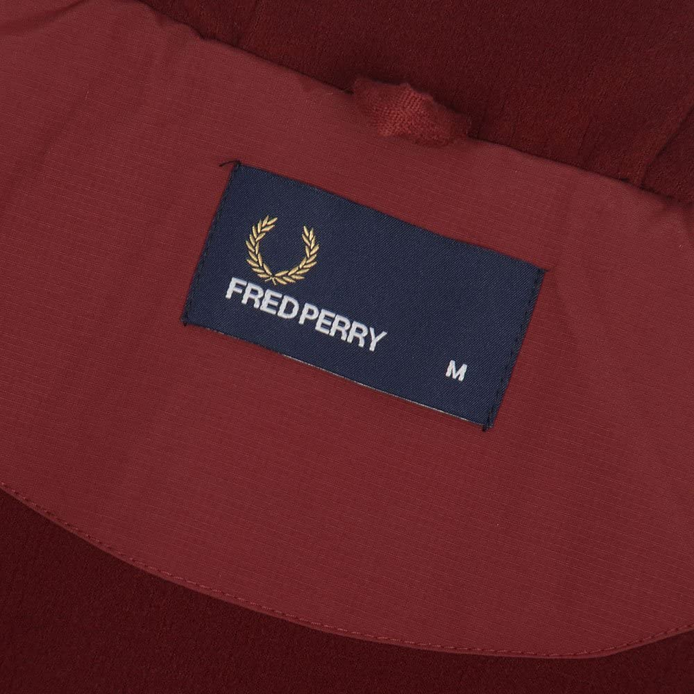 Fred Perry Hombres chaqueta con capucha brentham M granate: Amazon ...
