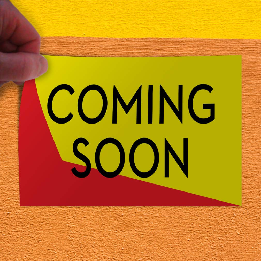 Set of 2 54inx36in Decal Sticker Multiple Sizes Coming Soon Business Style U Business Coming Outdoor Store Sign Black
