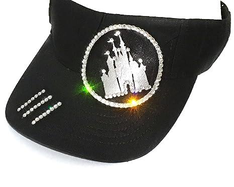 Elivata Women s Disney Castle Sun Visor Swarovski Crystal Rhinestones - One  Size ef4d9499ab5