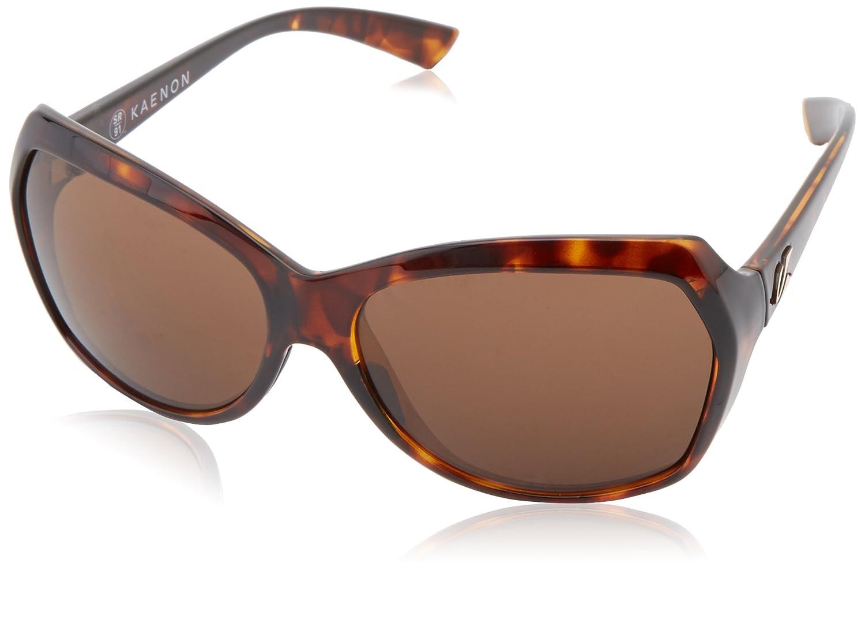Kaenon Womens Shilo B12 Square Polarized Sunglasses Tortoise 48 mm