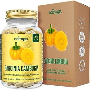 Garcinia Cambogia, Natrogix 95% HCA Garcinia Cambogia Complex Extract, Natural Appetite Suppressant, Weight Loss Supplement Formula - Free E-Book - 100% Money Back Guarantee - 60 VCaps