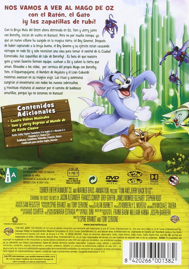 Amazon.com: Tom Y Jerry : Regreso Al Mundo De Oz - Tom And Jerry Back To Oz [Non-usa Format: Pal -Import- Spain ]: Movies & TV