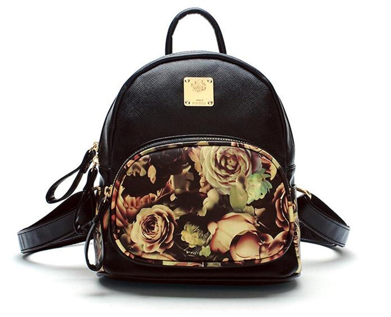 Utopia Boutique Women's Floral Backpacks School Bag Travel Pack