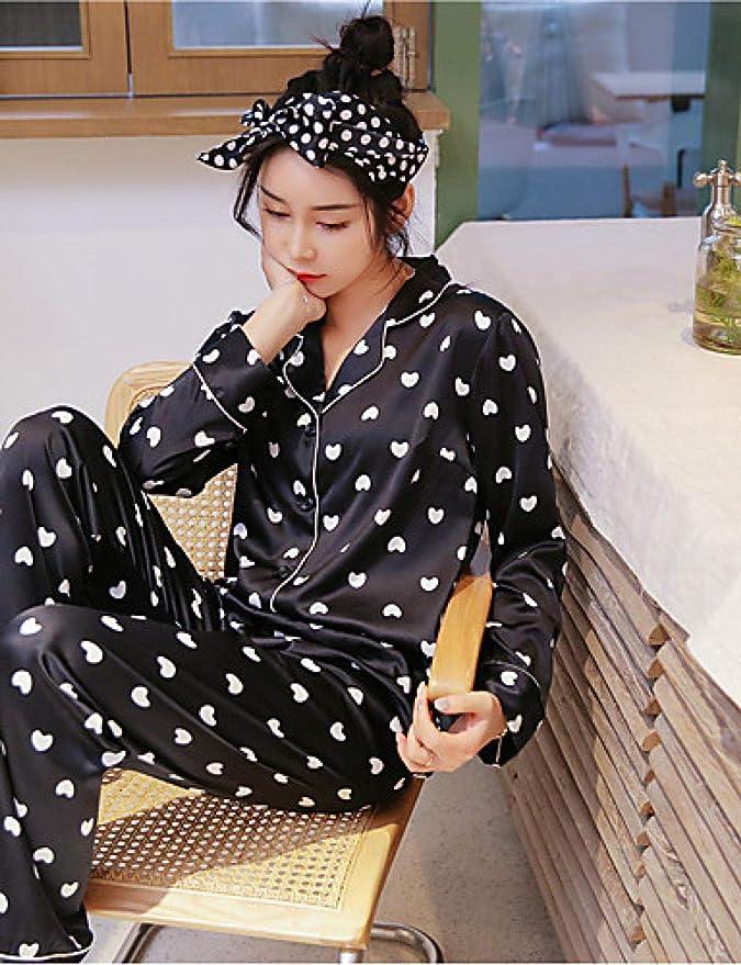 Home + pajamas Camisa De Mujer Cuello Trajes De Raso Y Seda Pijamas Lunares Florales: Amazon.es: Deportes y aire libre