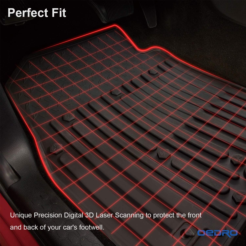 Winunite Front Rear Black Slush Floor Mats For 2013 2017 Dodge