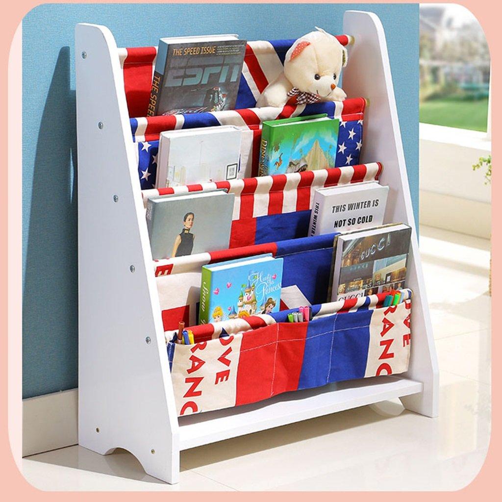 MEILING Bibliothèque de bibliothèque pour enfants Bibliothèque de maternelle établisseHommest d'enfant Ensemble de stockage de jouets à dessin animé (Couleur   8)