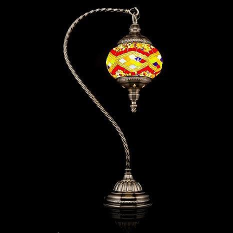 Lámpara de mesa hecha a mano con mosaico de cristal turco y ...