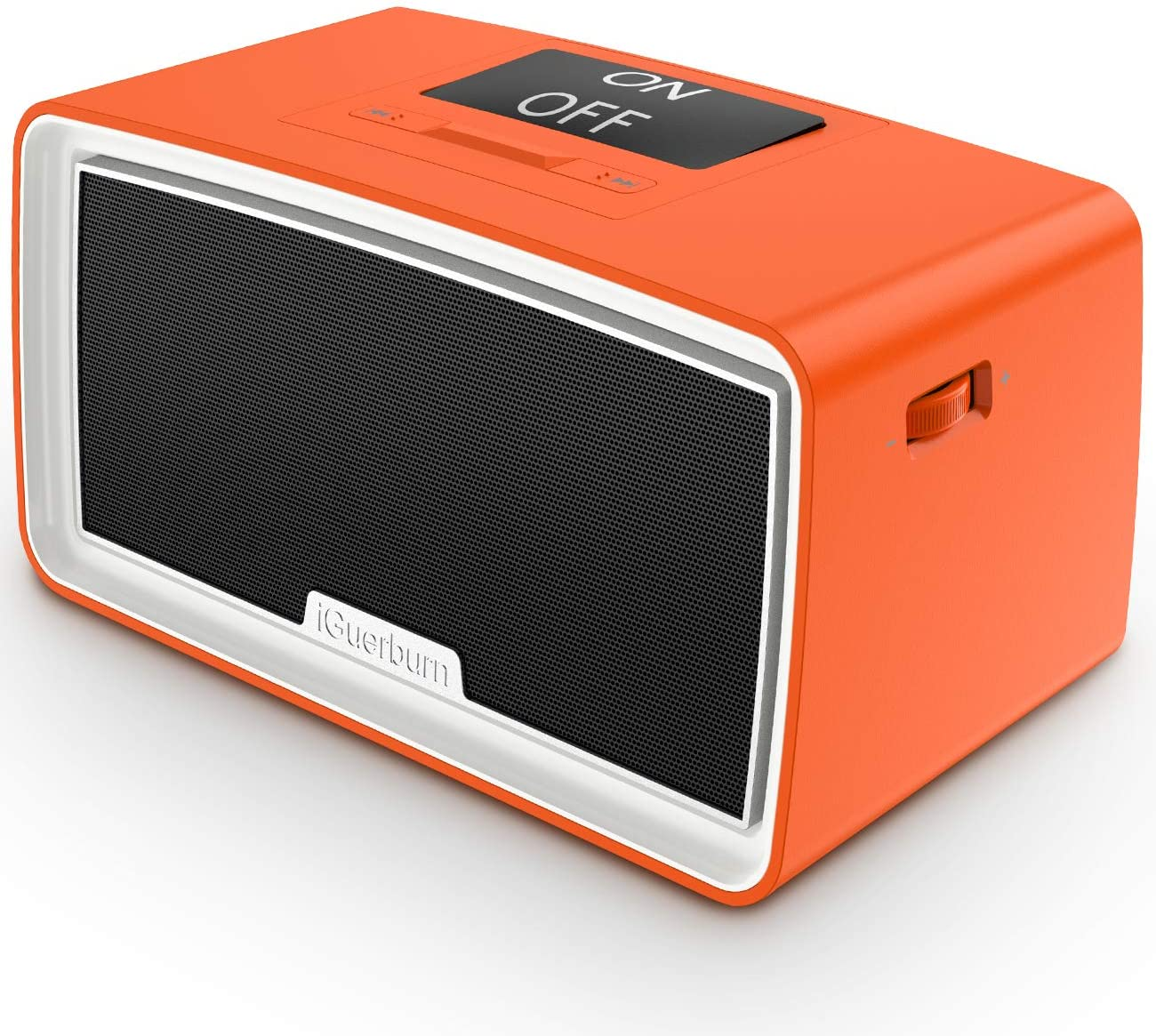 iGuerburn Upgraded 16GB Simple Music MP3 Player Dementia Products Gifts for People with Dementia Patients Alzheimers Music Box for Elderly Seniors 9.4 x 4.9 x 4.7 inches (Orange)