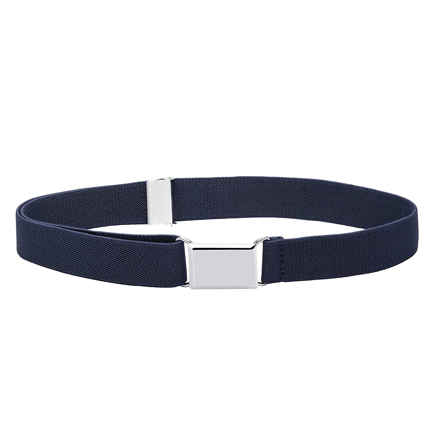 5122-BLK//BRW Buyless Fashion Kids Boys Adjustable Elastic Stretch Belt with Buckle 4 Pack