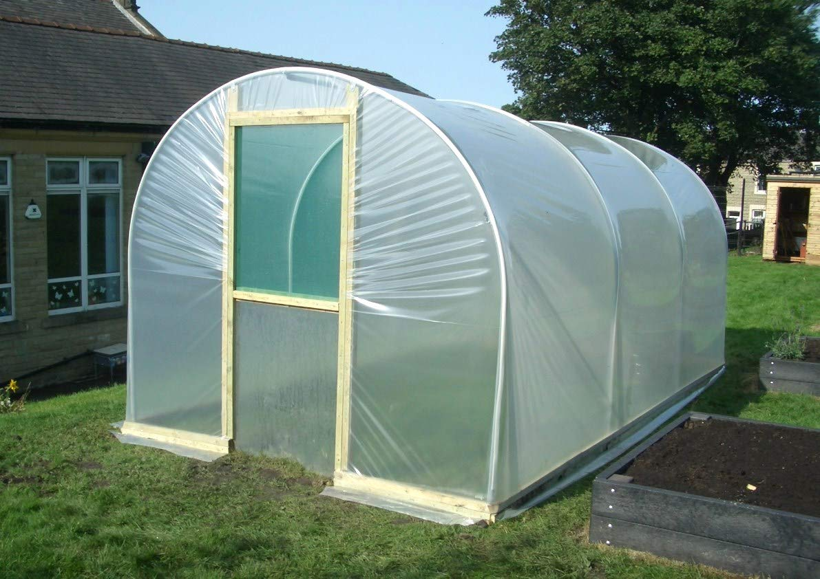 Ecover 5.5Mil Greenhouse Plastic Cover Polyethylene Clear Film for Garden Plant Cover, 12 x 50ft by Ecover (Image #3)