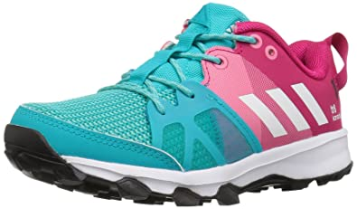 save off 87432 e22a1 adidas Girls Kanadia 8 k Trail Runner Energy BlueWhiteEasy Pink 10.5