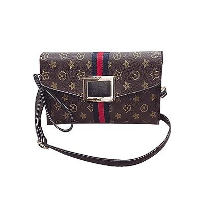 Amazon.com  NOTAG Crossbody Bags for Women Flower Designer Evening Clutch  Handbag Leather Wristlet Purse Small Shoulder Bag Fashion Ladies Envelope  Evening ... 3437c6bf1d56d