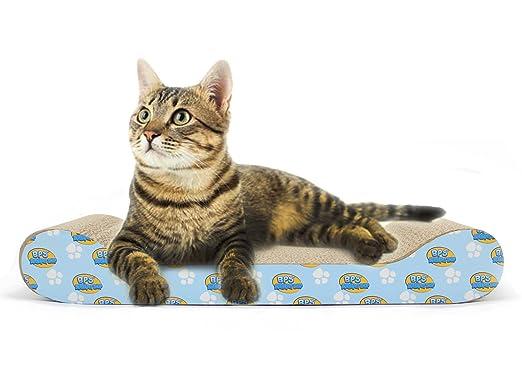 BPS Rascador Gatos Rascador Tabla de Cartón Papel Incluido Hierba Gatera 3 Modelos Elegir 49 x 21 x 4-7 cm (Colchoneta) BPS-10056: Amazon.es: Productos para ...