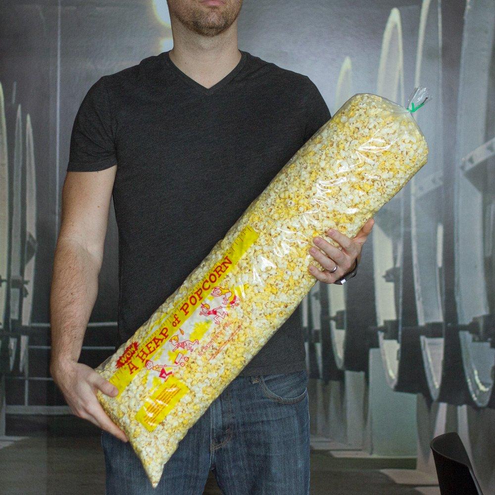 KegWorks Heap of Popcorn- Large Plastic Popcorn Bags - 6.5oz. Pack of 100 by KegWorks