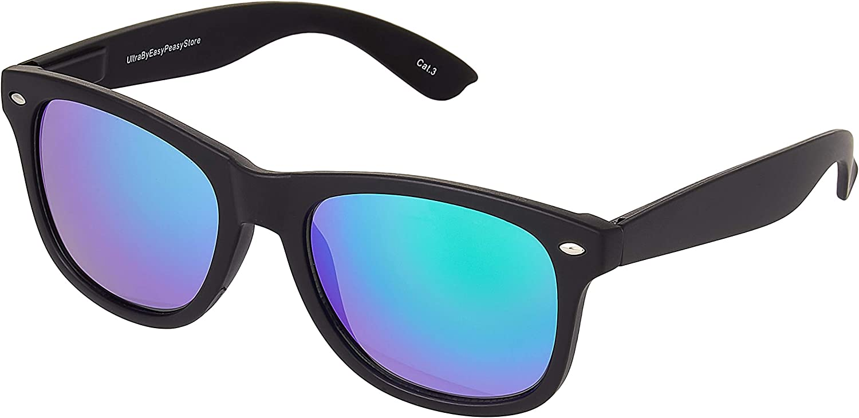 Black Sunglasses UV400 Colours 80s Retro Shades Mens Womens