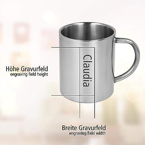 Wunschgravur Edelstahl Kaffeetasse Survival Outdoor Tasse Gravur Thermo Becher