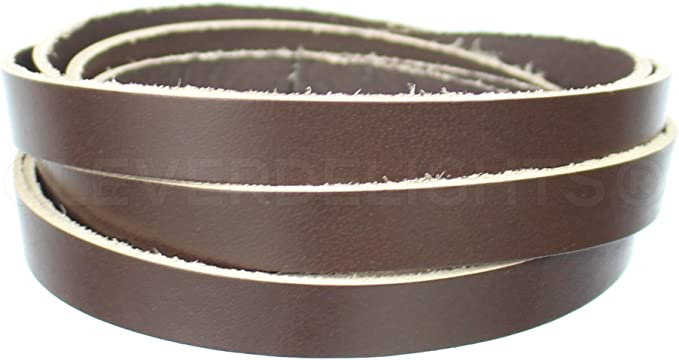 Black 1//2 x 84 Jewelry Supply Craft CleverDelights Premium Cowhide Leather Strap 5oz Genuine Leather