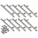 10 x SO-TECH® G10 Edelstahlrohr Möbelgriff-Set Stangengriffe Relinggriffe BA 128 mm