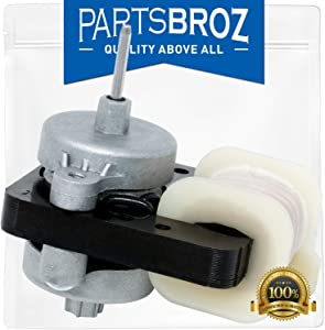 W10189703 Refrigerator & Freezers Evaporator Fan Motor by PartsBroz - Compatible with Whirlpool Maytag Refrigerators - Replaces W10189703, AP6016598, 10449505