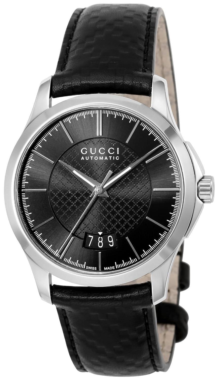 [グッチ]GUCCI 腕時計 Gタイムレス ブラック文字盤 YA126430 メンズ 【並行輸入品】 B01M4NWB4R