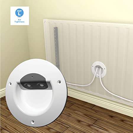 Radiator Pipework Air Barrier Part L Compliant / Central Heating ...