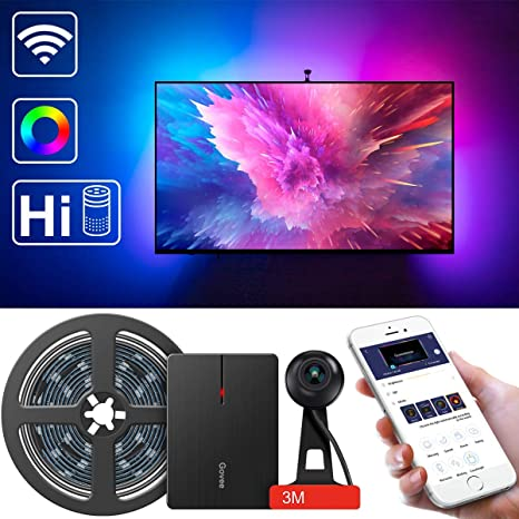 LED TV Backlights, Govee WiFi TV Backlights Kit with Camera, TV Led Strip  Lights Compatible with Alexa, APP Control Music Led Strip Lights, TV  Ambient