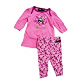John Deere Baby Swing Dress and Flowered Legging Set Pink