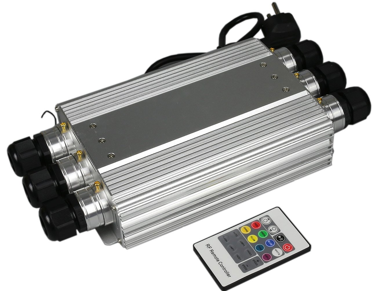 50w Fiber Optic Lamp 6ports Led Light Engine Optical Fiber Light Box Wireless Rf Remote