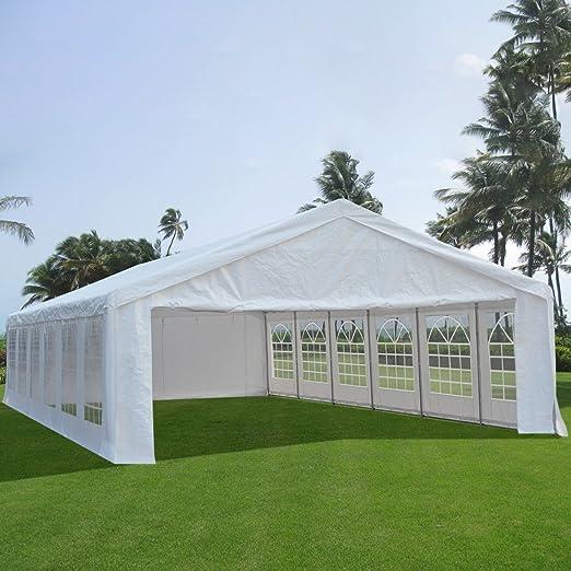 Carpa para fiestas muy resistente, para bodas, cenador para eventos al aire libre, de Quictent., color blanco, tamaño 6x12M, 337.31, 472.44 x 236.22 x 131.89inches: Amazon.es: Jardín