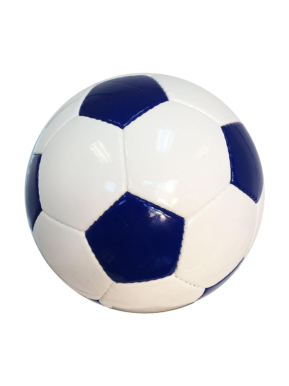 サッカーボールクラシックコレクションNavyブルーPentagons &ホワイトHexagons Solid Colo赤 Anyないパネルインプリント  Size 3