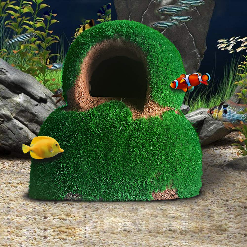 Fish Hideout Betta Cave Aquarium Decorations Natural Habitat Made from Resin Soft-Textured Smooth Edges /& Spacious Hideout for Betta Fish to Rest