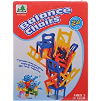 Comdaq Plastic Balance Chairs Travel Game (Multicolour)