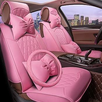 HAOCOO 18 Inch Luxurious Faux Sheepskin Long Wool Car Seat Covers Chair Pad White
