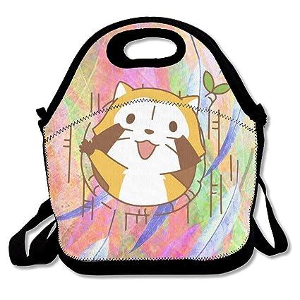 amazon com cute cartoon rascal raccoon rascal insulated lunch bag