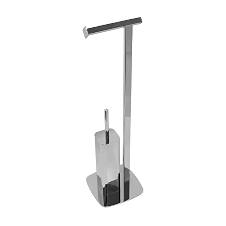 f379ee0e6ab3 My Bathroom World Reading - Freestanding Chrome Toilet Roll and Brush  Holder Stand: Amazon.co.uk: Kitchen & Home