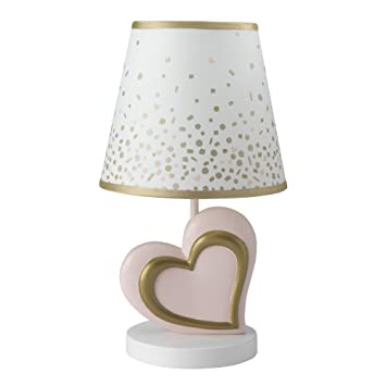 Marvelous Lambs U0026 Ivy Confetti Heart Lamp With Shade U0026 Bulb, Pink/Gold