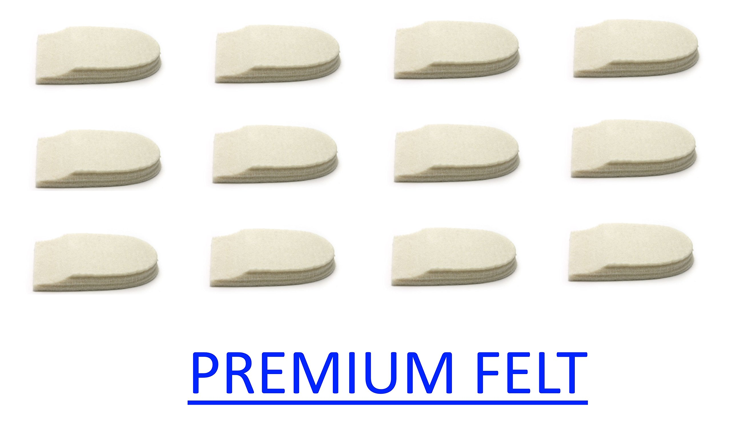 Felt Heel Cushion Pad 1/2'' with Adhesive for Pain Relief - 6 Pairs (12 Pieces) by MARS WELLNESS
