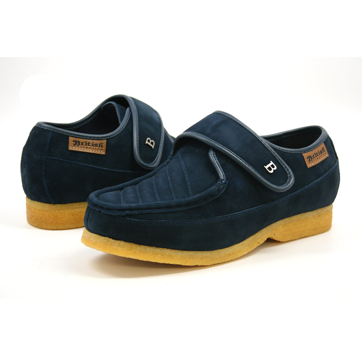 British Collection Royal Old School Slip On Shoes 9.5M Navy Leather by British Collection (Image #1)