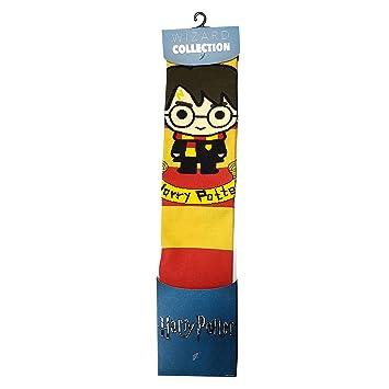 NJ SCREENPRINTS Calcetines Harry Potter Chibi 41-45 Rojo Amarillo: Amazon.es: Juguetes y juegos