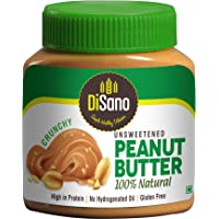 Disano Natural Unsweetened Peanut Butter, Crunchy, 1kg -