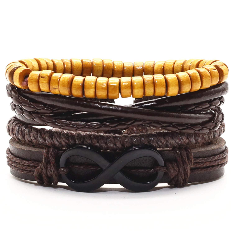 liberalism Trendy Vintage Handmade Woven Leather Rudder Leaf Lucky Charm Women Bracelets Men Homme Femme Male Jewelry