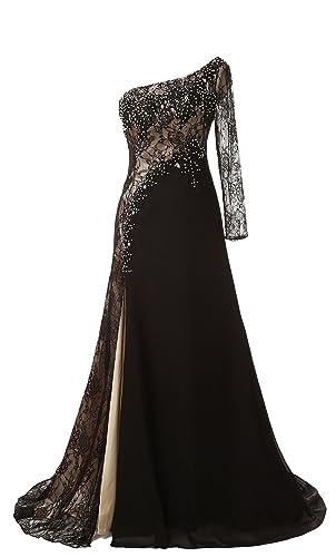 Butmoom Women's One Shouler Floor Length Formal Evening Dresses