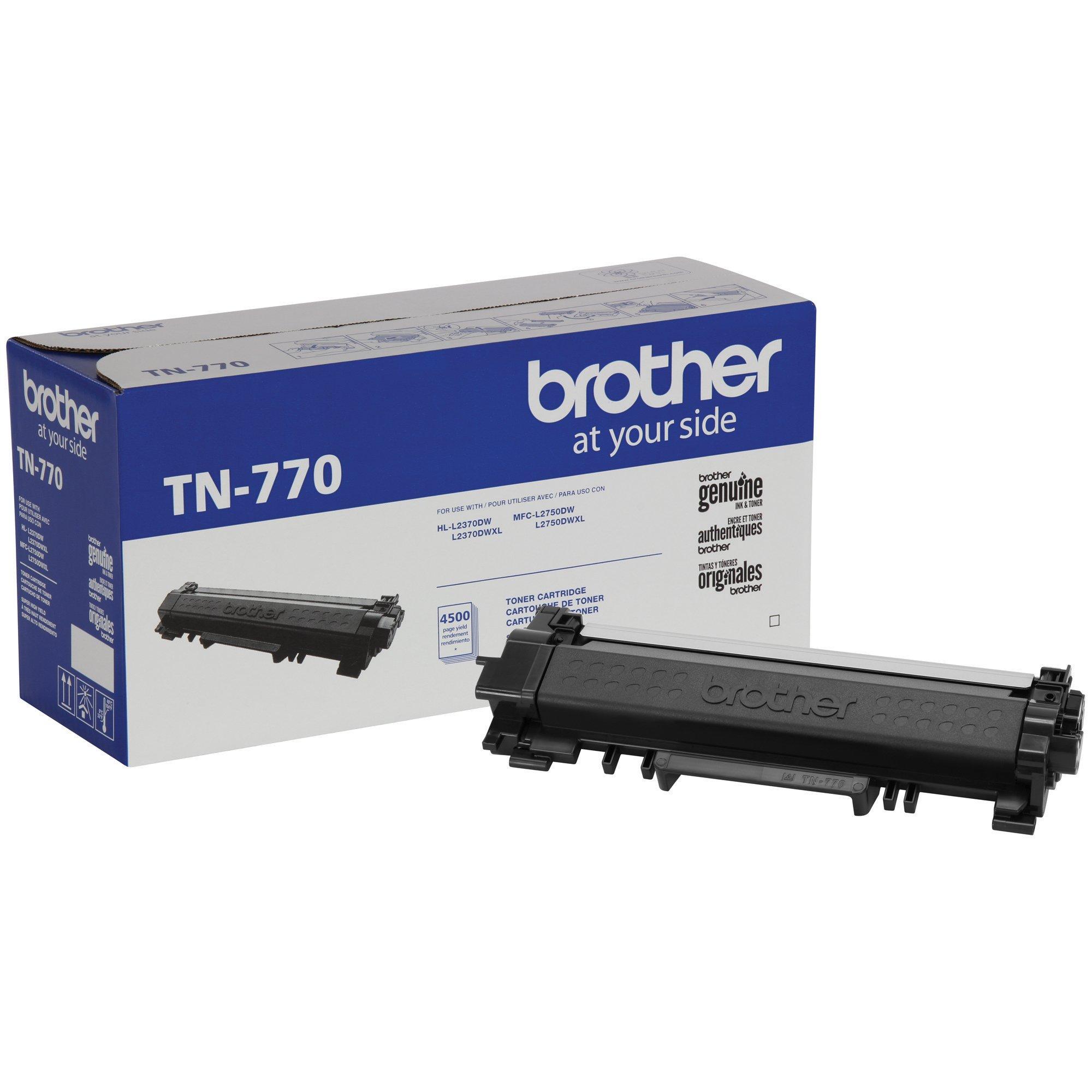 Brother Genuine TN770 Black Super High Yield Toner Cartridge, Up To 4,500 Page Yield, Amazon Dash Replenishment Cartridge