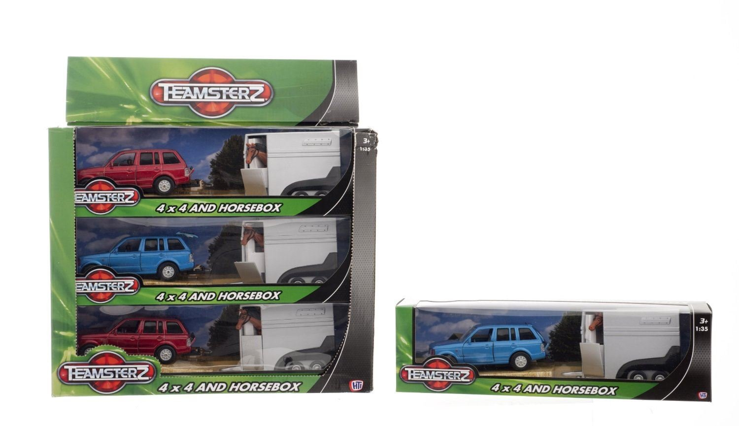 Teamsterz 4x4 Vehicle with Horse Box Trailer Toy Model HTI