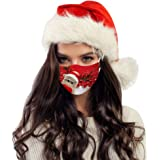 10PCS Christmas Printed Disposable Face Mask for Adults Safety Protective PM2.5 Breathable Elastic Earloop Mouth Muffle…