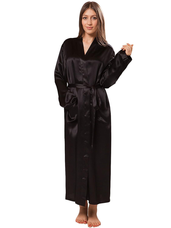 1ae4b2fe8e ElleSilk Women s 100% Silk Dressing Gown