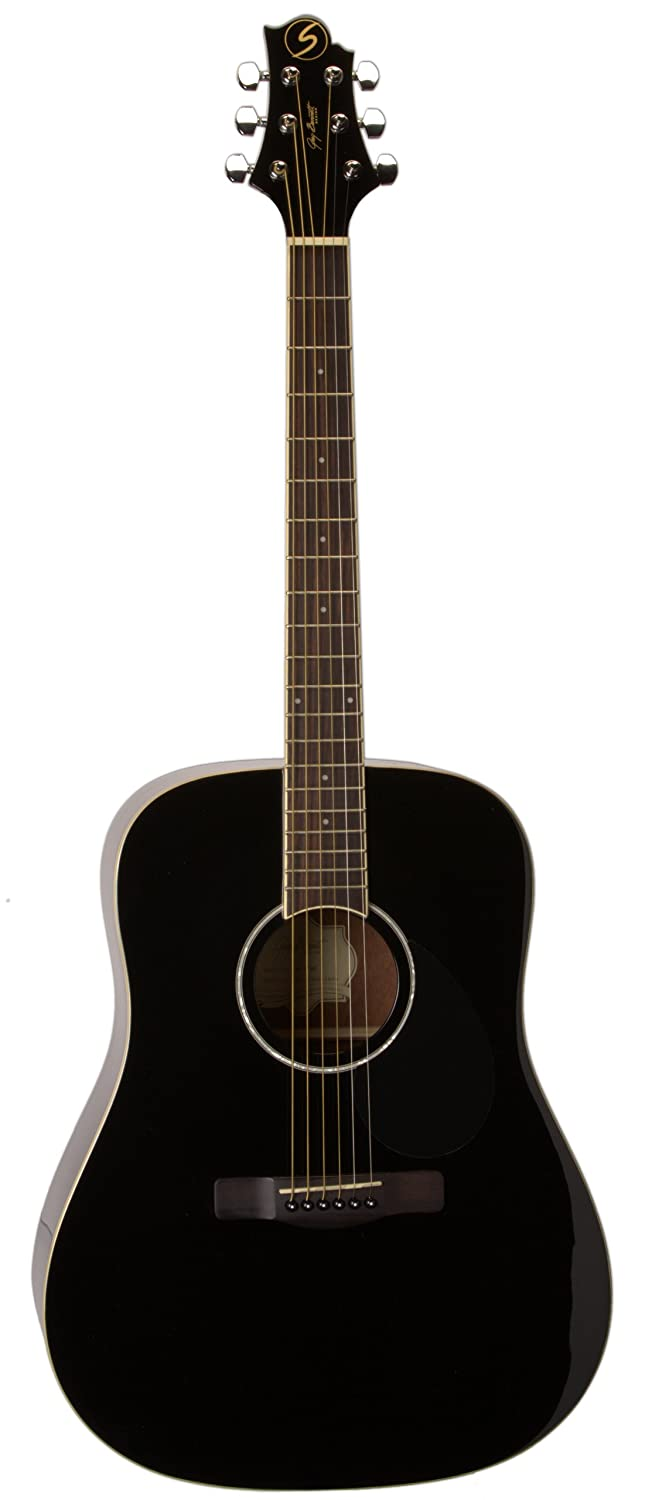 Greg Bennett Design Regency D2 Blk Dreadnought Acoustic Guitar, Black Samick Music Corp.