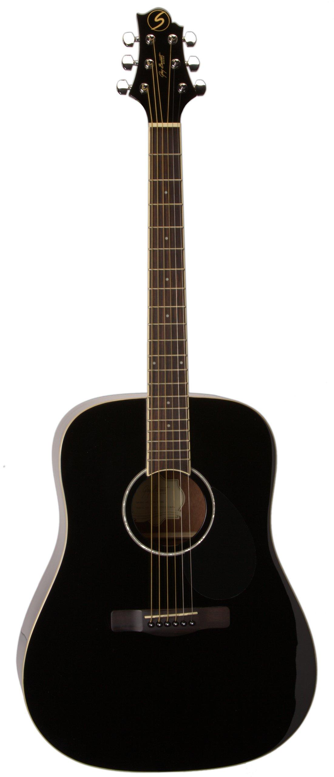 Greg Bennett Design Regency D2 Blk Dreadnought Acoustic Guitar, Black